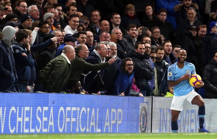 Manchester City's Raheem Sterling